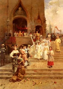 Cesare-Auguste Detti : The Confirmation Procession